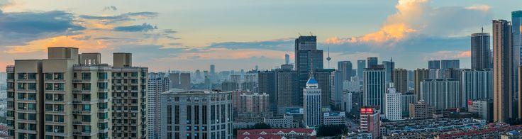 https://flic.kr/p/wBKLrH | Shenyang Cityscape | Shenyang China (looking north) just before sunset.