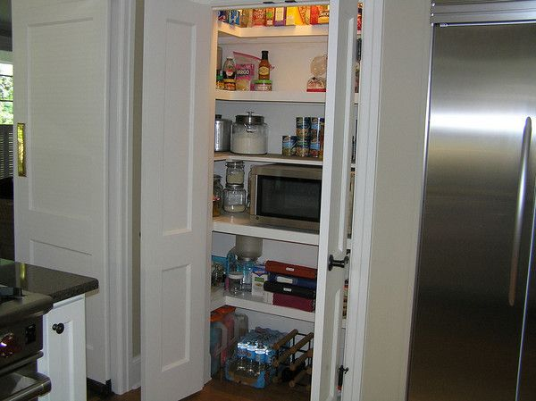 Pantry With Doors Open. Currently Have Space To Make It 58 Inches Wide And  32   36 Deep Inside.