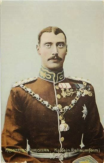 Prince Christian (X) in gala uniform as Captain of the Danish Royal Guards bearing the Order of the Elephant - 1906