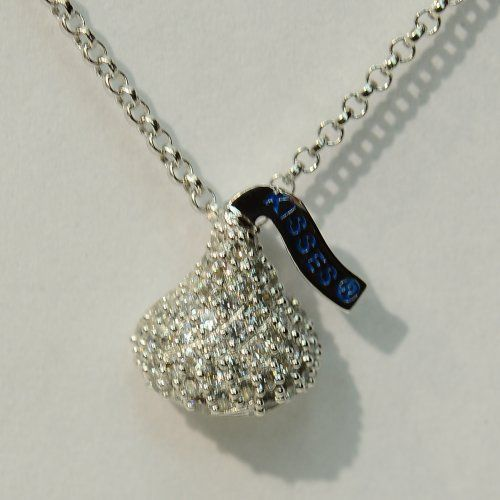 54 best hersheys kiss jewelry images on pinterest hersheys silver cubic zirconia hersheys kiss jewelry pendant with chain hersheys mozeypictures Choice Image