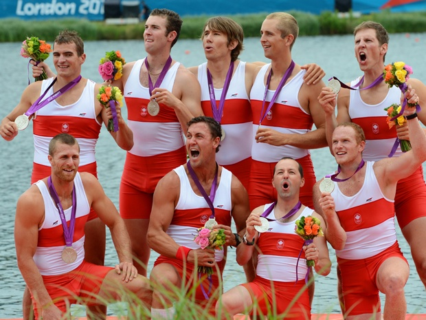 Day 5 (August 1st, 2012) - Silver - Men's Eight (Rowing) - Gabe Bergen, Doug Csima, Rob Gibson, Conlin McCabe, Malcolm Howard, Andrew Byrnes, Jeremiah Brown, Will Crothers, Brian Price (coxswain)