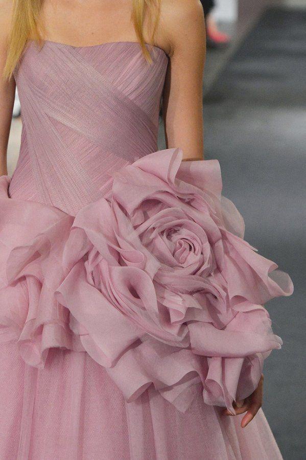 Розовые свадебные платья Vera Wang фото коллекции 2014-2015