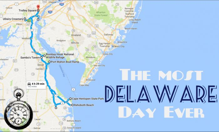 Buckle up, because you're about to have the MOST DELAWARE DAY EVER.