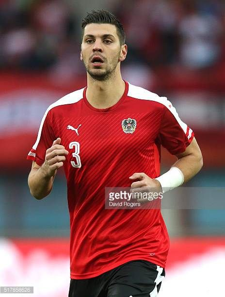 Aleksandar Dragovic of Austria looks on during the international friendly match between Austria and Albania at the Ernst Happel Stadium on March 26...