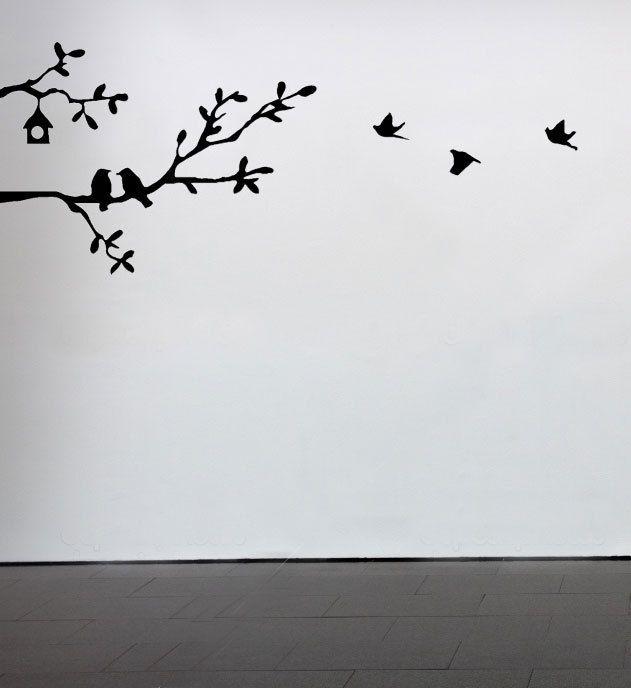 Branches with Birds @Kaitlyn BirdVinyls Decals, Awesome Tattoo, Birds Whimsical, Vinyls Wall Art Kitchens, Kitchens Backsplash, Birds Fly, Artworks For Kitchens, Modern Contemporary, Whimsical Modern