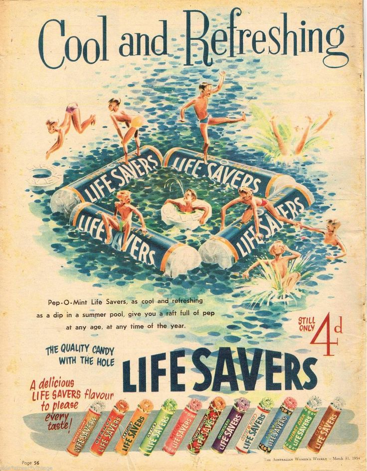 Life Savers Candy Ad Australian Vintage Advertising 31 March 1954 Original | eBay
