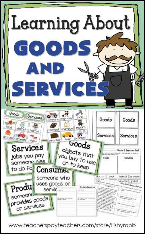 Goods and Services primary economics unit