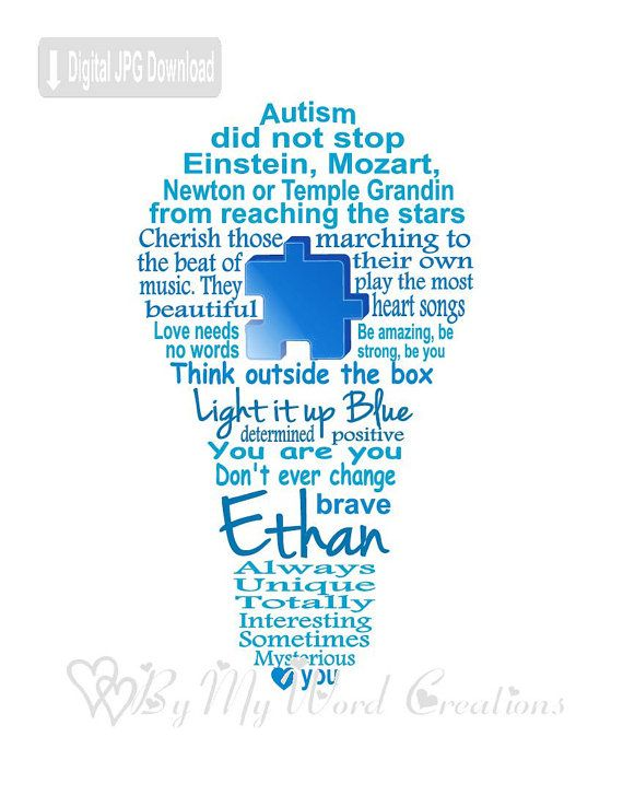 Autism Awareness Art Autism Light Bulb Art by ByMyWordCreations