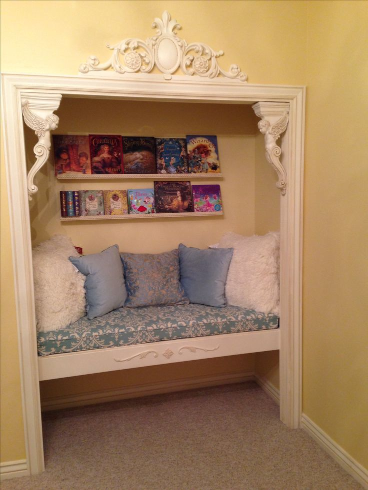 Closet Reading Nook #ReadingSpaces #Books #Home