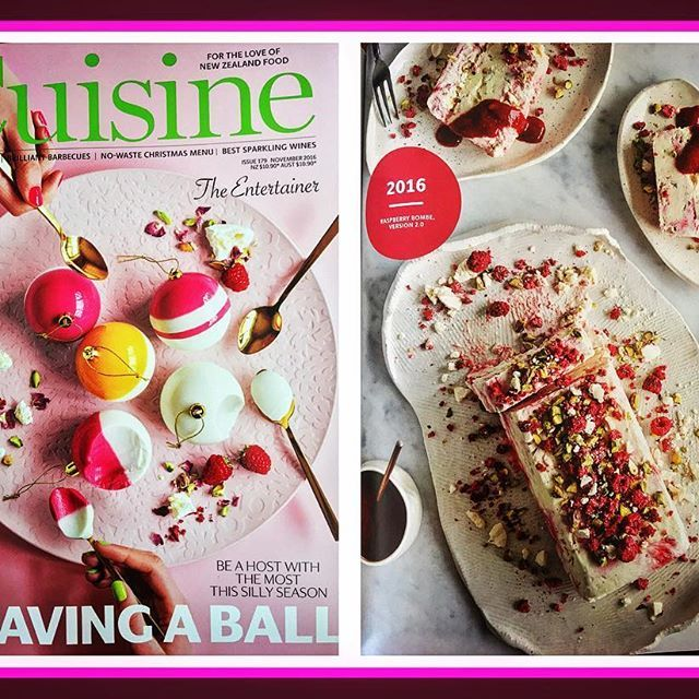I remember when I made this & it was the first pieces of pottery I sent to NZ! One lives there & one in Sydney 💕 A huge surprise to find it in the magazine today 😳 Styling by @fionalascelles  Photography by @Aaron McLean Recipe & Food Styling by @Fiona smith  #NZ#Cuisine