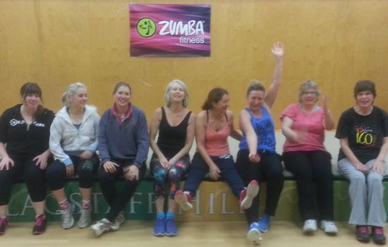 The girls from my Zumba Fitness Class in Flagstaff Hill Adelaide 2014