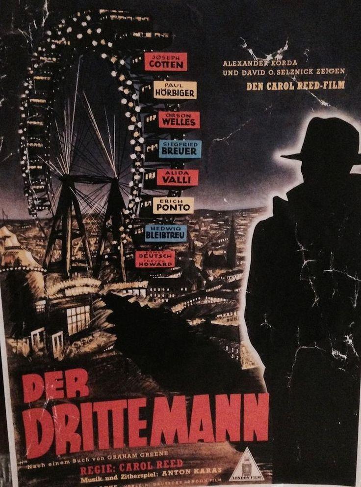 Original Filmplakat - Der dritte Mann - 1950 - 36 x 26 cm Paul Hörbiger,Joseph C