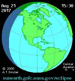 The first total solar eclipse visible from the contiguous United States since 1979