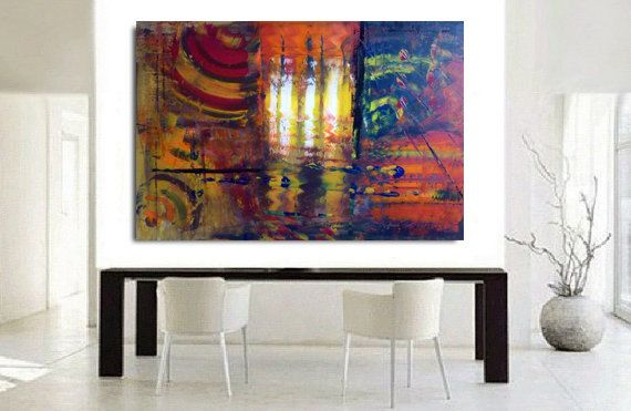 Abstract large paintings acrylic original modern by artstudioAreti
