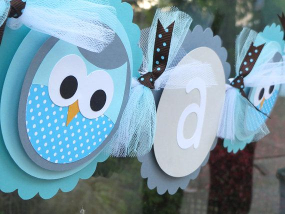 Owl banner Its a Boy banner  Baby Shower banner by Wildflowercraft, $22.50 @Hannah Mestel Cartwright