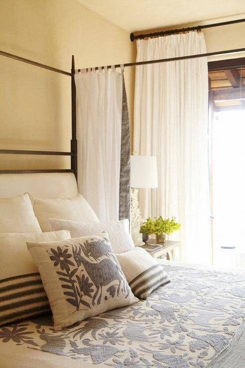 impresión gris ropa de cama en el dormitorio otomí otomí neutra