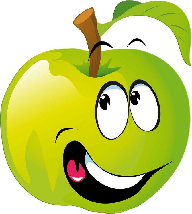 Apfel mit Smiley