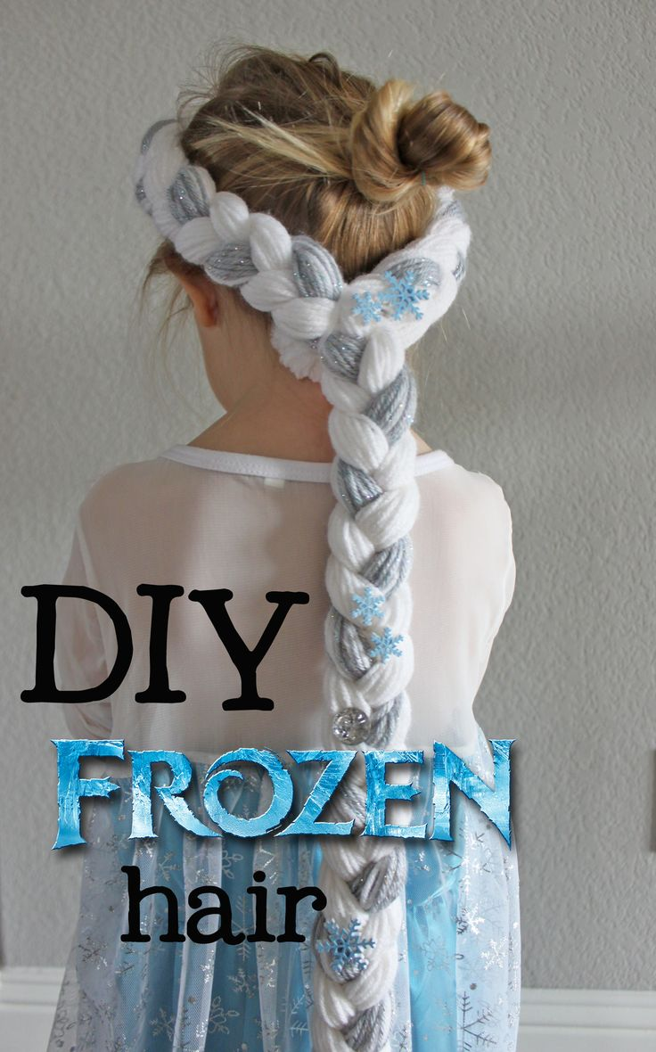 Make Elsa hair! SO Simple, takes less than an hour to make!