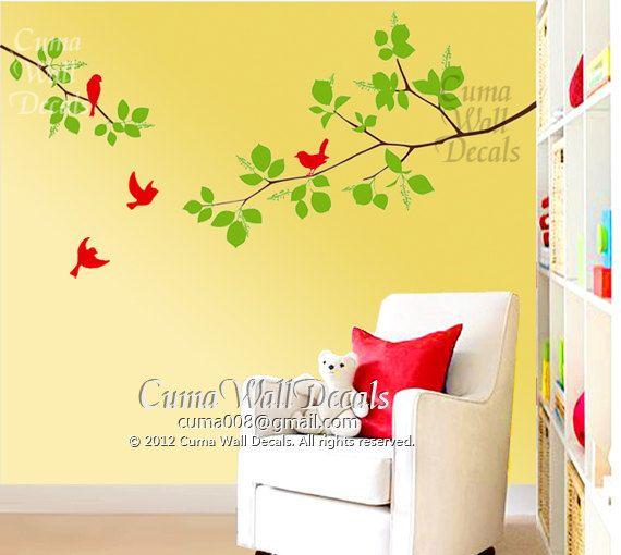 Best Wall Decal Images On Pinterest Tree Wall Decals Vinyl - Wall decals birdsbirds couple on branch wall decal beautiful bird vinyl sticker