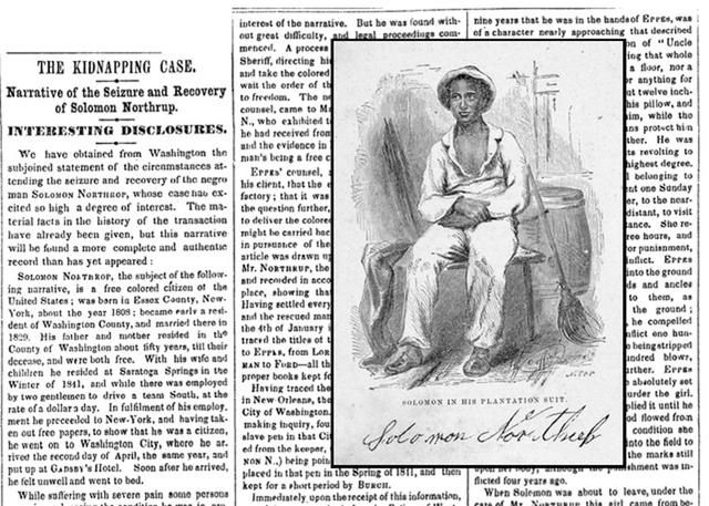 The original NY Times' 1853 Article On 12 Years A Slave's Solomon Northup #TeachNYPL