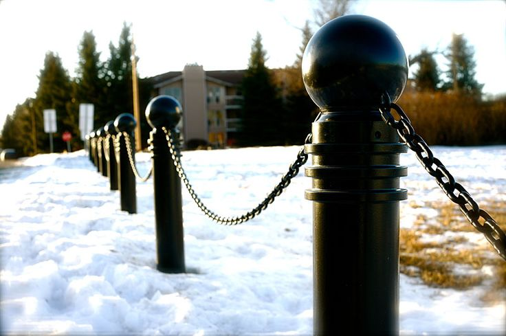 A beautiful photo of our #bollards in the snow  http://www.reliance-foundry.com/bollard