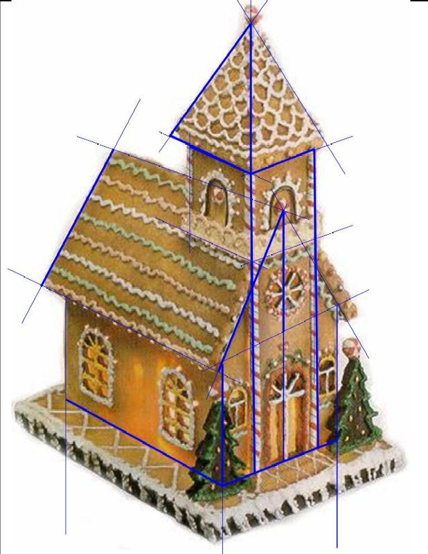 Gingerbread church pattern sos tutorial decor for House pattern