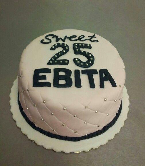 Sweet 25. Pale pink cake