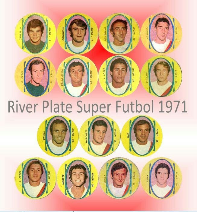 CA River Plate of Argentina team card in 1971.