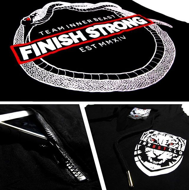 Comment below if you'd rep this at the gym!  Another quick look at the FINISH STRONG hoodie dropping soon. Showcasing the jet black zip pocket.  The Ouroboros - the snake that eats it's tail - is a symbol of continuity; of life, death and rebirth.  Everyday we are given a reset button. If there's something you don't like about your life, something you want to change or something you want to pursue you can make the conscious decision to make a change or to begin a change.  If there's one…