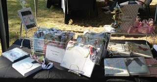 Market stall photos featuring some of my hand made projects at Combewood Historic House, Penrith
