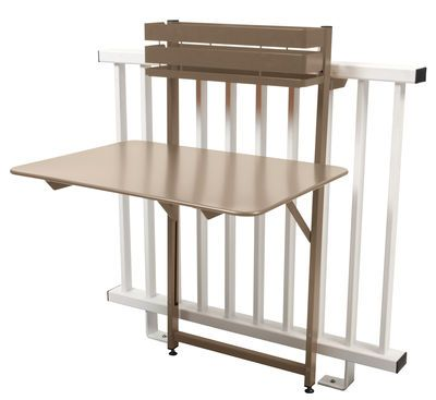 Table pliante Balcon Bistro / Rabattable - 77 x 64 cm Muscade - Fermob
