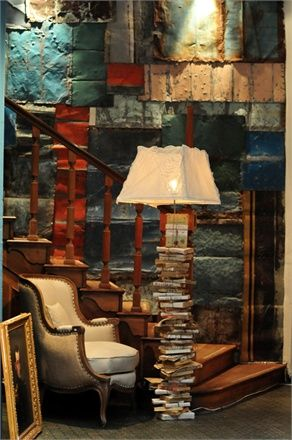 Book lamp by Italian store Borgo delle tovaglie (via Vogue.it)
