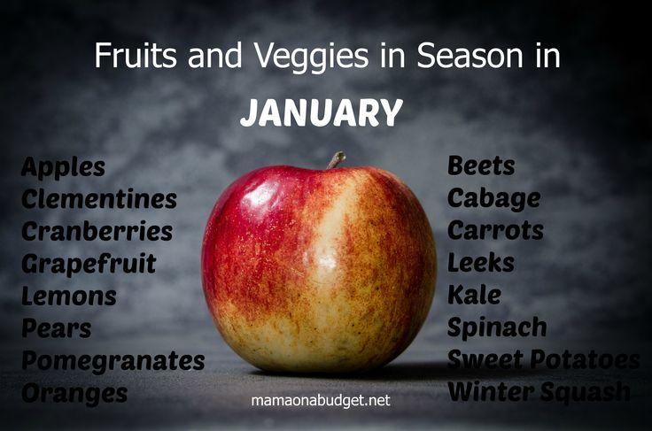 Seasonal Fruits and Veggies: January