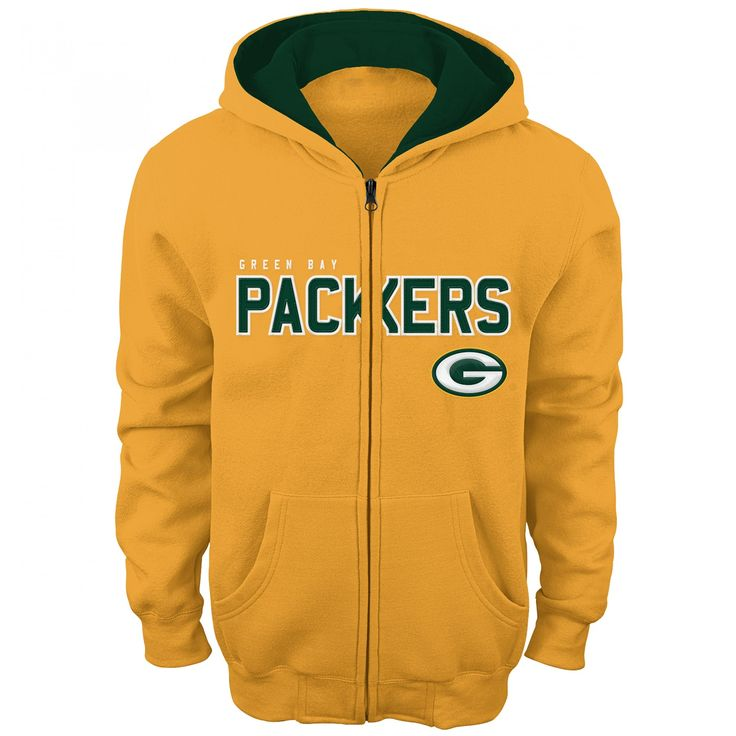 Green Bay Packers Youth Stated Full Zip Hoodie at the Packers Pro Shop