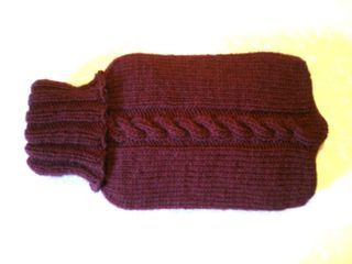 easy knitted hot water bottle cover -this would be nice in merino or cashmere