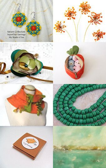 Green and orange by Marzena on Etsy--Pinned with TreasuryPin.com