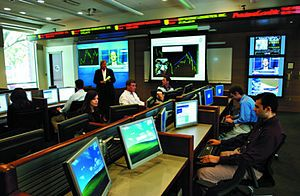 Trading Room of the Freeman School of Business