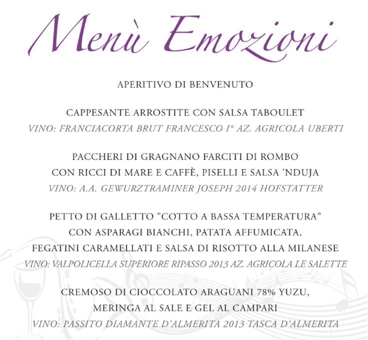 """""""Emozioni"""" è lla serata che """"inaugura"""" la bella stagione al Nobile Bistro'. Una serata di musica, vino e buon cibo.  Giovedì 26 maggio 2016. #savethedate. Nostri graditissimi ospiti: al sax https://www.facebook.com/tullio.ricci Luisito Perazzo """"ai vini"""" e, last but not least, il nostro chef Luca Gubelli ai fornelli. E' una serata riservata a numero chiuso.Prenotate subito in collaborazione con   Il Salotto di Susi  Il Salotto di Susi di https://www.facebook.com/susanna.amerigo"""