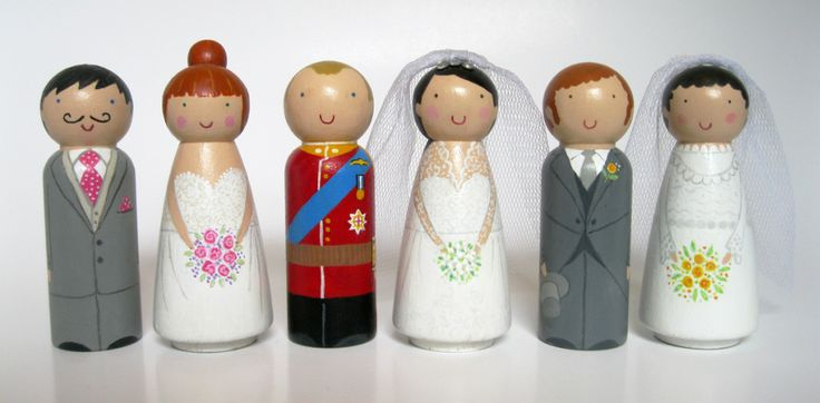 Personalised wedding toppers cake toppers by the dolly bird