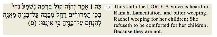 Jeremiah 31:15
