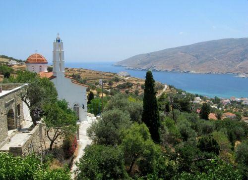 Panagia in Exo Rogo over Korthi Bay  ~ Island of Andros ~  by Nikolaos Pantazis
