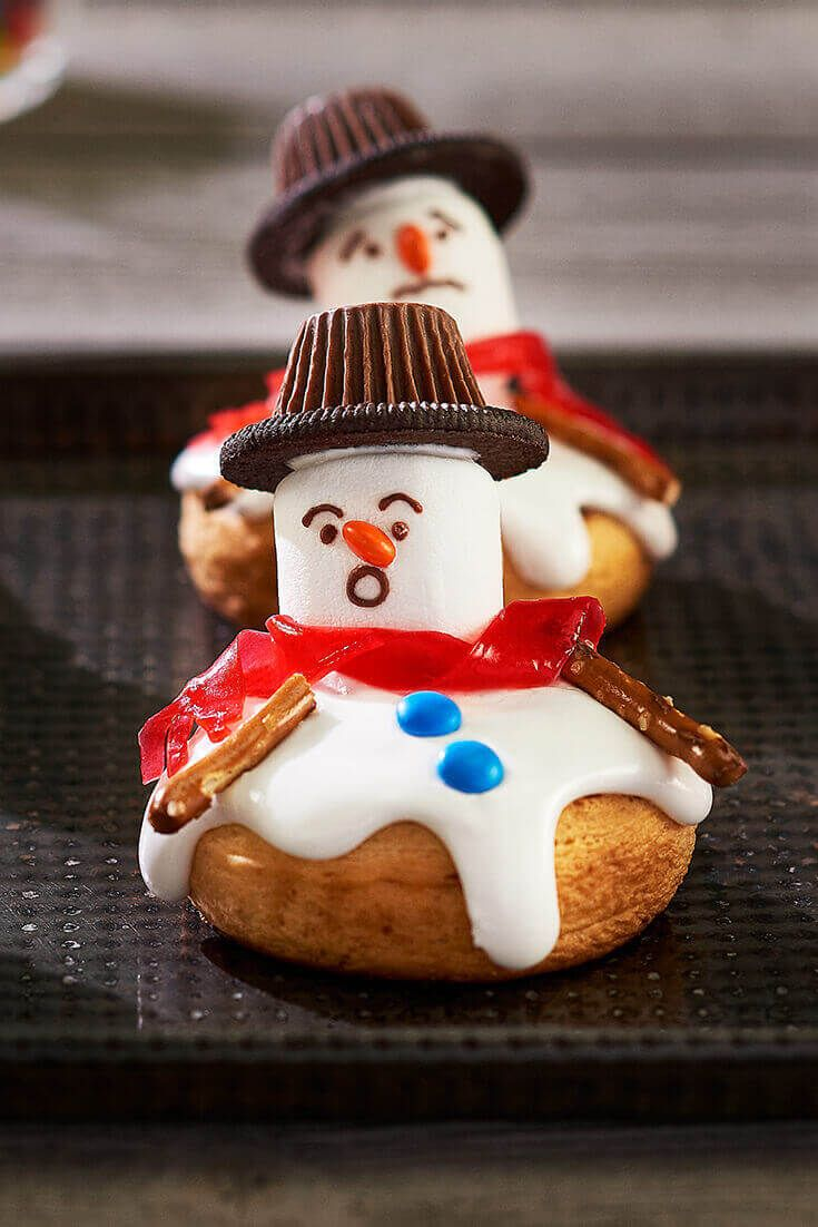 Your Kids Will Love These Melting Snowman Cinnamon Rolls. It's easy to make these cute breakfast treats for Christmas morning.