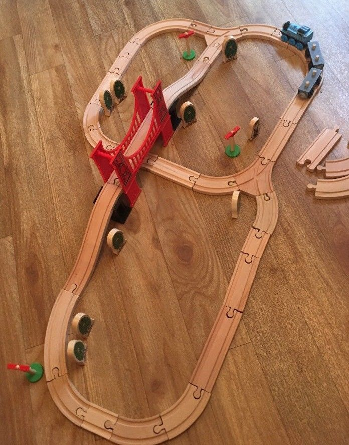 Wooden Train Set By Early Learning Centre With Thomas Elc Brio