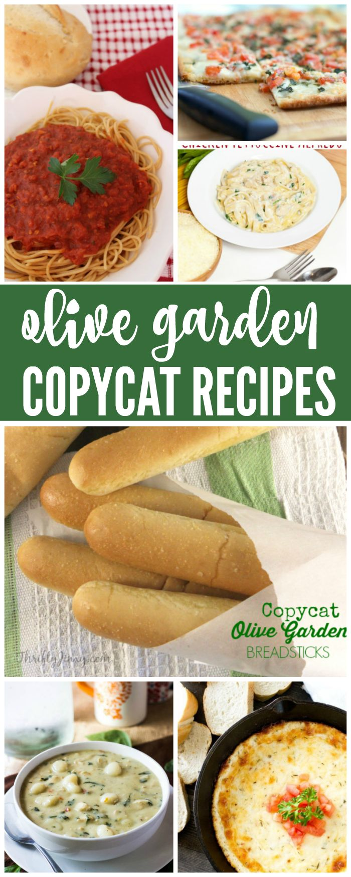I have some delicious Olive Garden Copycat Recipes for you today! If you love Olive Garden and want to give some of their recipes a try at home, then check out these great recipes