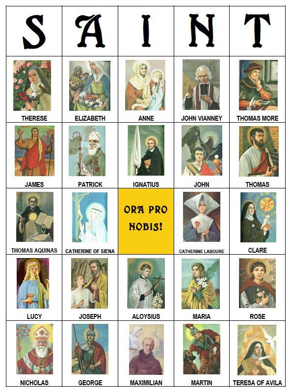 Shower of Roses: All Saints Bingo :: A 30 Card Printable Bingo Set