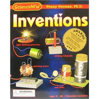 "This Inventions Kit provides highly visual instructions for children for each of the inventions. Kids will have fun learning the""why"" as well as the ""how"" of each project!"