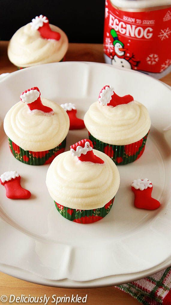 Eggnog Cupcakes | Cakes, Candy, Cookies, Desserts, Holiday treats, Pi ...