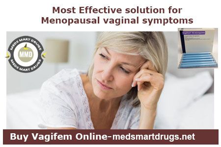 women faces so many problems at the time of menopause .. There is several vaginal symptoms of menopause like vaginal dryness,itching ,hot flashes.. vagifem vaginal tablets are the best solution for treatment of vaginal symptoms of menopaues.. you can buy vagifem vaginal tablets online from medsmartdrugs.net at cheap prices with fast shipping.. #buyvagifemonline