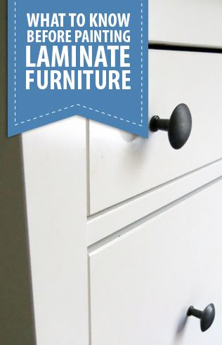 I've been asked by lots of people if it's ok to paint laminate furniture. It definitely is and there are a few things to know before you start painting. Painting laminate furniture is a different p...