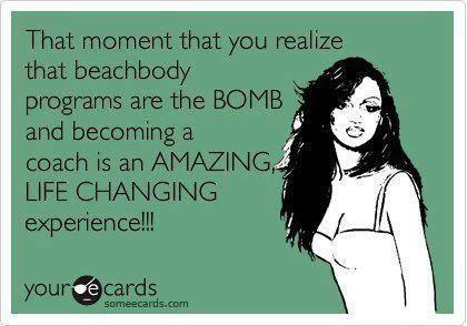 I LOVE being a Team Beachbody coach!